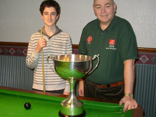 The Champ and I with his Under 18's English Pool Trophy